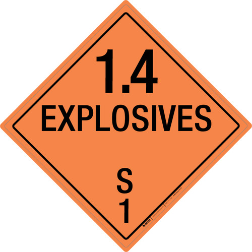 Explosive: Class 1.4 - S - Wall Sign