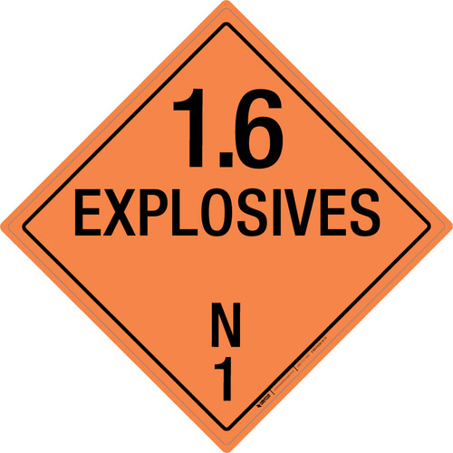Explosive: Class 1.6 - N - Wall Sign