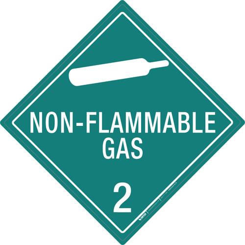 Non-flammable Gas: Class 2 - Placard Sign