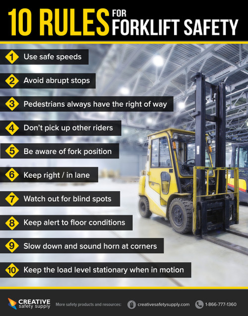 Forklift Safety Poster Creative Safety Supply