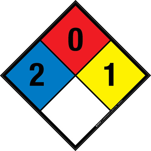 NFPA 704: 2-0-1 - Wall Sign
