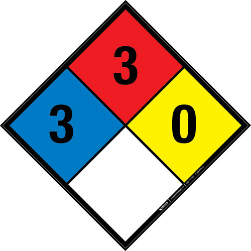 NFPA 704: 3-3-0 - Wall Sign