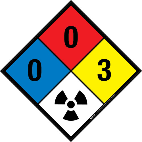 NFPA 704: 0-0-3 RAD - Wall Sign