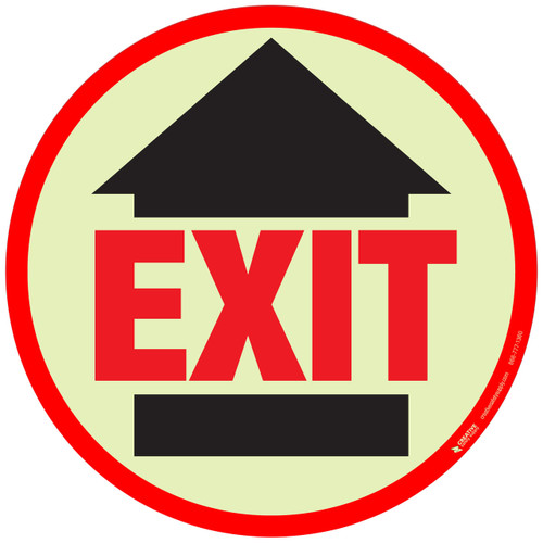 Glow in the Dark Exit Floor SIgn