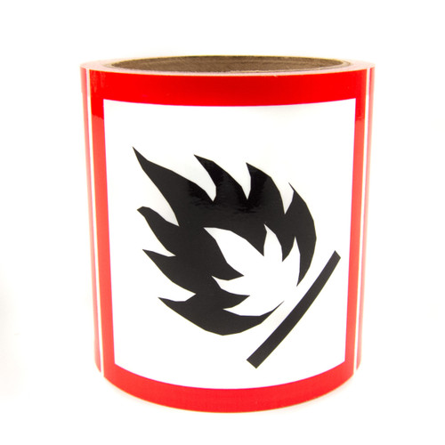 GHS Labels - Flammable 4""