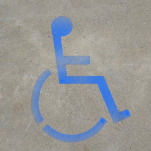 Handicap Symbol - Stencil