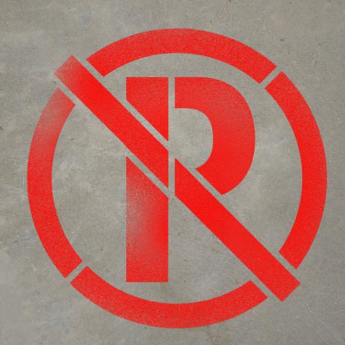 No Parking Symbol - Stencil