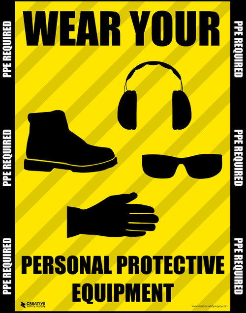 Wear Your Personal Protective Equipment Safety Poster