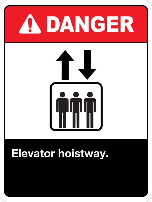 Danger Elevator Hoistway