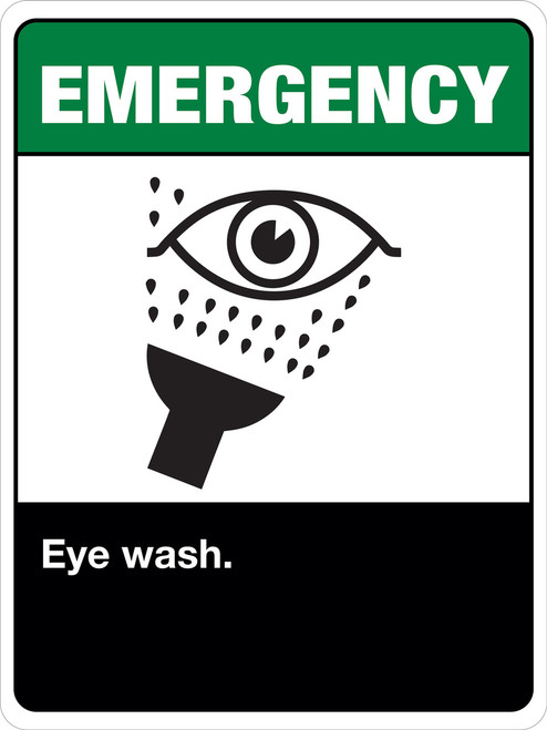 Emergency Eye Wash Station Label