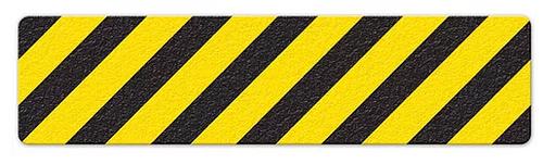 "Hazard Stripe (6"" x 24"") Yellow/Black Anti-Slip Floor Tape"