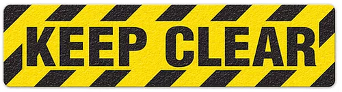 "Keep Clear (6""x24"") Anti-Slip Floor Tape"