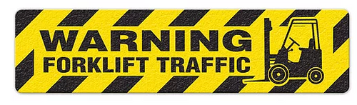 "Warning Forklift Traffic (6""x24"") Anti-Slip Floor Tape"