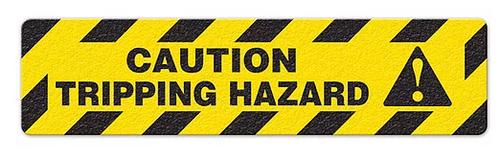 """Caution Tripping Hazard (6""""x24"""") Anti-Slip Floor Tape"""