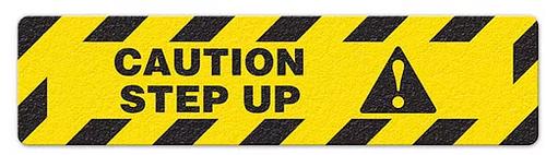 "Caution Step Up (6""x24"") Anti-Slip Floor Tape"