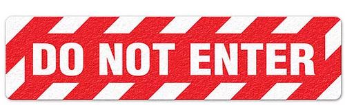 """Do Not Enter (6""""x24"""") Anti-Slip Floor Tape"""