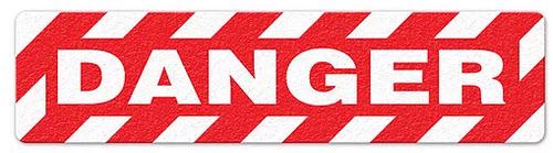 """Danger (6""""x24"""") Anti-Slip Floor Tape"""