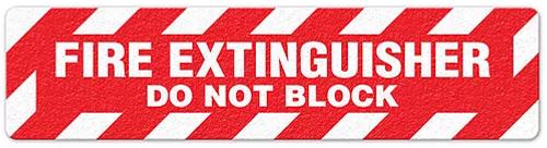 "Fire Extinguisher Do Not Block (6""x24"") Anti-Slip Floor Tape"