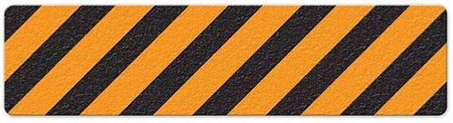 """Hazard Stripe (6"""" x 24"""") Org/Blk Anti-Slip Floor Tape"""