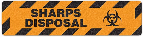 "Sharps Disposal (6""x24"") Anti-Slip Floor Tape"