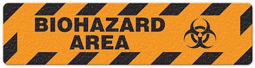 "Biohazard Area (6""x24"") Anti-Slip Floor Tape"