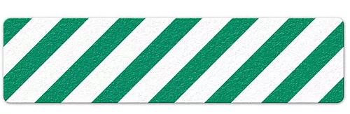 "Hazard Stripe (6"" x 24"") Green/White Anti-Slip Floor Tape"
