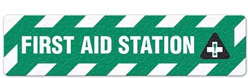 "First Aid Station (6""x24"") Anti-Slip Floor Tape"