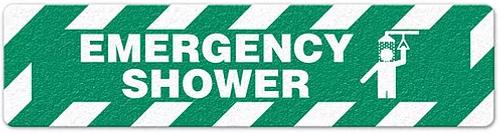 """Emergency Shower (6""""x24"""") Anti-Slip Floor Tape"""