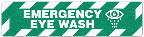 "Emergency Eye Wash (6""x24"") Anti-Slip Floor Tape"