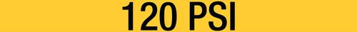 120 PSI Pipe Label