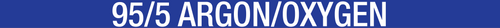 95/5 Argon/Oxygen Pipe Label