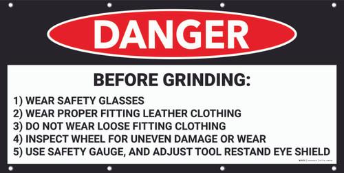 Danger Before Grinding Banner