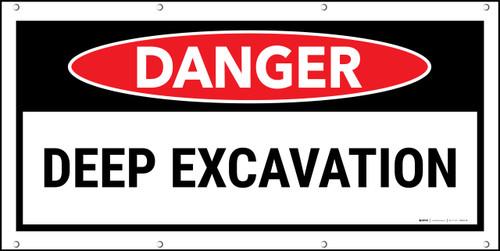 Danger Deep Excavation Banner
