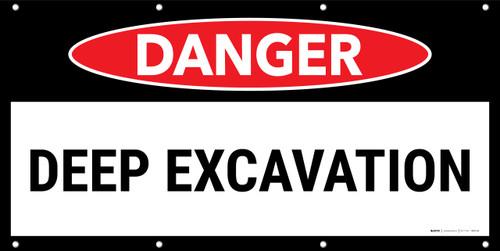 Danger Deep Excavation No Frame Banner
