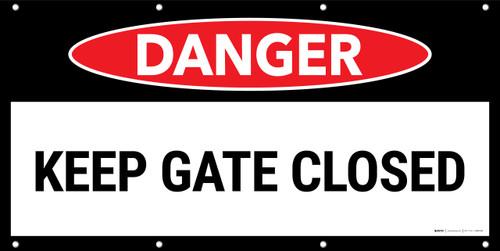 Danger Keep Gate Closed No Frame Banner