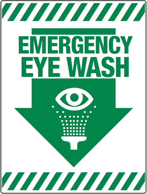 Emergency Eye Wash Wall sign