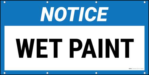 Notice Wet Paint Banner