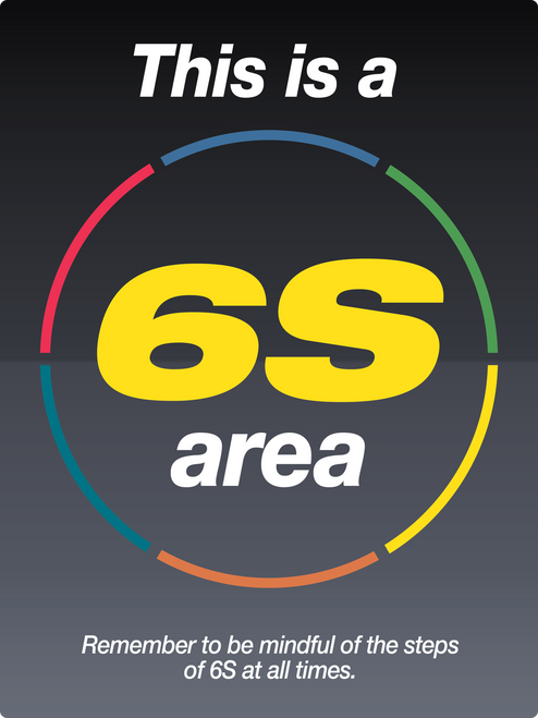 Big 6s Area sign