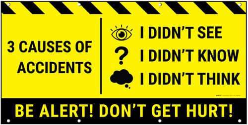 Be Alert Don't Get Hurt Banner