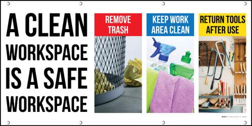 Clean Workspace Safe Workspace Banner Visual Workplace Banner