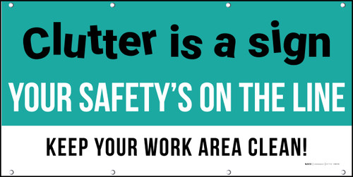 Clutter Safety Banner Visual Workplace Banner