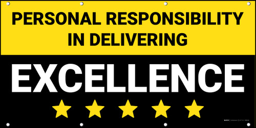 Personal Responsibility in Delivering Excellence Banner