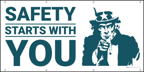 Safety Starts with You Patriotic Banner