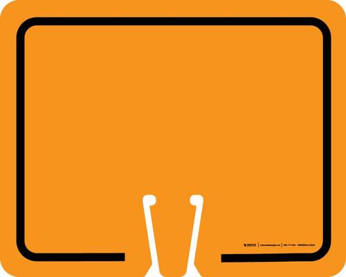 Blank Orange Clip-On Cone Sign