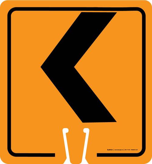 Left Chevron Vertical Clip-On Cone Sign