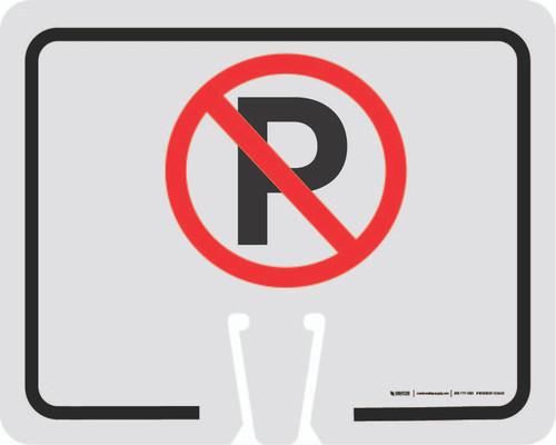 No Parking Symbol Clip-On Cone Sign