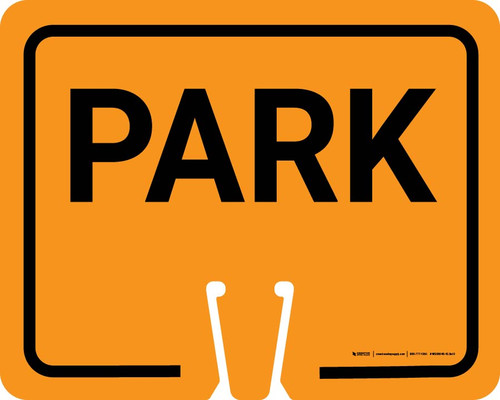 Park Clip-On Cone Sign