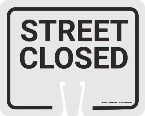 Street Closed Clip-On Cone Sign
