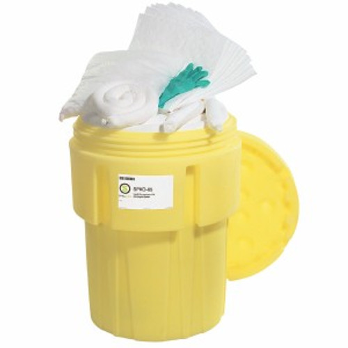 SpillTech Oil-Only 65-Gallon OverPack Salvage Drum Spill Kit