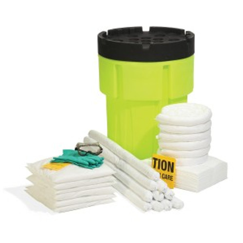 SpillTech Oil-Only 65-Gallon Hi-Viz OverPack Drum Spill Kit